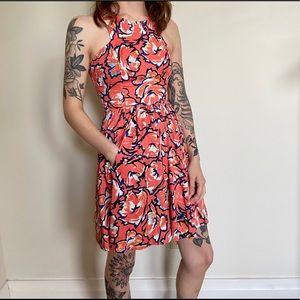Open Back Floral Mod Dress